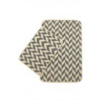 Набор ковриков в ванную Izzihome Solo кремовый Gri Zigzag