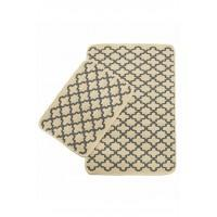 Набор ковриков в ванную Izzihome Solo кремовый Gri Geometry