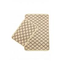 Набор ковриков в ванную Izzihome Solo кремовый Pembe Geometry