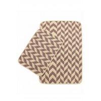 Набор ковриков в ванную Izzihome Solo кремовый Pembe Zigzag