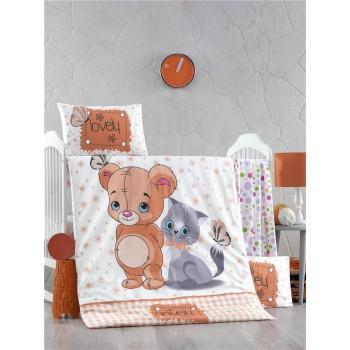 Детское постельное белье в кроватку LightHouse ранфорс Mouse and Cat