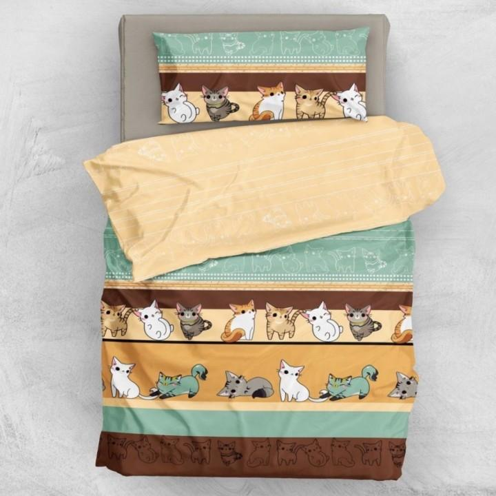 Детское постельное белье в кроватку Л сатин Мяу