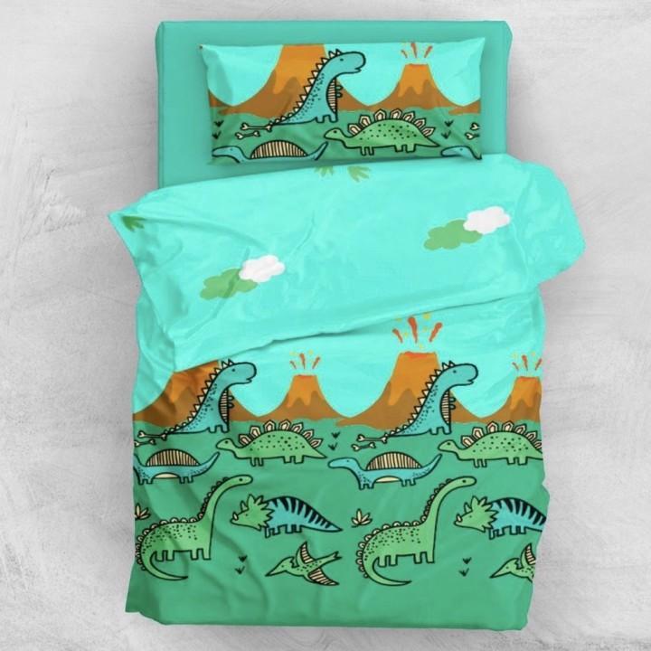 Детское постельное белье в кроватку Л сатин Динозаврики