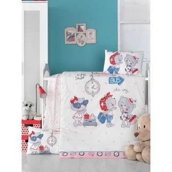 Детское постельное белье в кроватку LightHouse ранфорс Pink Station