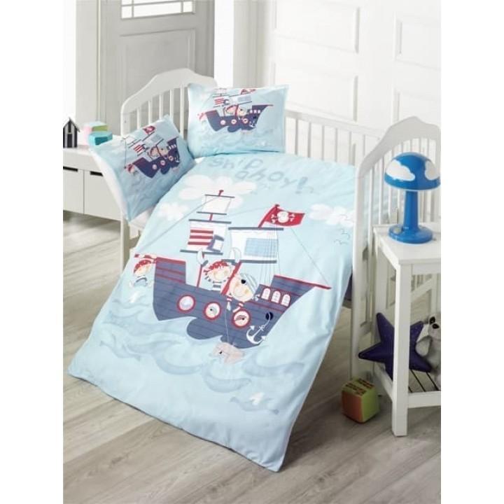 Детское постельное белье в кроватку LightHouse ранфорс Ship