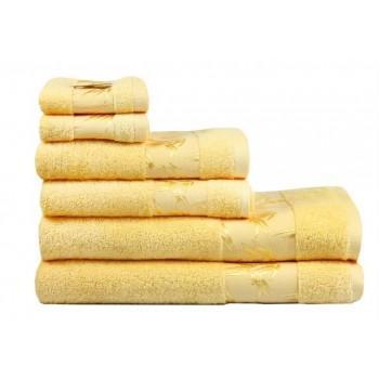 Полотенце Bamboo желтое бамбуковое махровое