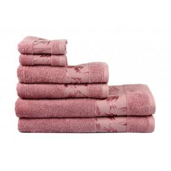 Полотенце Bamboo темно-розовое бамбуковое махровое