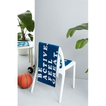 Полотенце Be Active Sport синее махровое