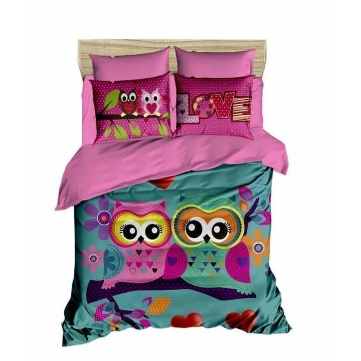 Постельное белье Lighthouse ранфорс 3D Owls in love
