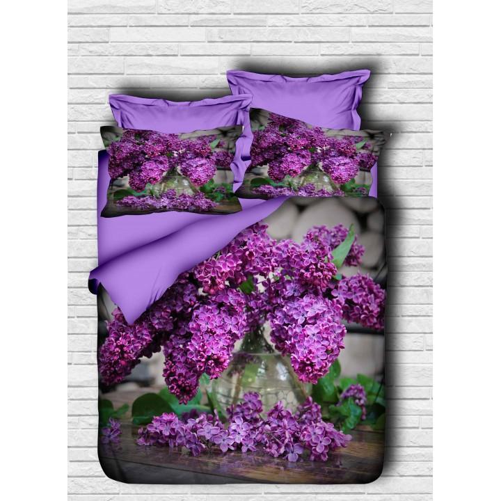 Постельное белье Lighthouse ранфорс 3D Purple Lilac