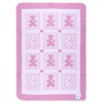 Одеяло-плед Vladi детское Барни розовое