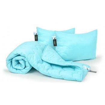 Набор одеяло и две подушки MirSon EcoSilk Демисезонный 1661 Eco Light Blue антиаллергенный