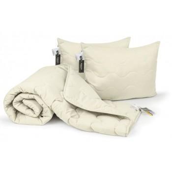 Набор одеяло и две подушки MirSon EcoSilk Демисезонный 1662 Eco Light Creamy антиаллергенный