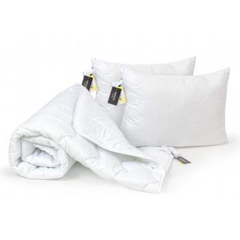 Набор одеяло и две подушки MirSon Eco-Soft Демисезонный 1696 Eco Light White антиаллергенный