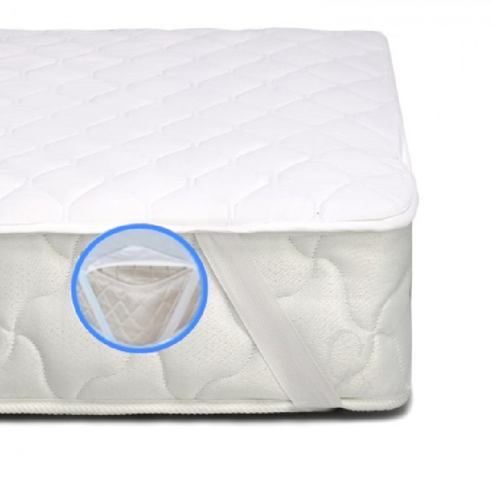 Наматрасник MirSon Стандарт Cotton №260 с резинкой по углам