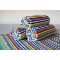 Полотенце махровое АВ разноцветное в полоску 3