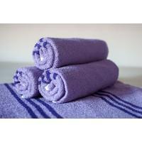 Полотенце махровое АВ фиолетовое 6