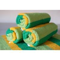 Полотенце махровое АВ зелено-желтое 8