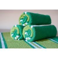 Полотенце махровое АВ зеленое 10