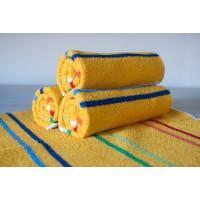 Полотенце махровое АВ желтое в полоску 12