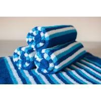 Полотенце махровое АВ сине-белое в полоску 16