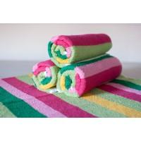 Полотенце махровое АВ цветное полосатое 17