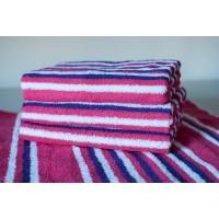Полотенце махровое АВ розовое-синее 20