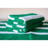 Полотенце махровое АВ зелено-белое 25
