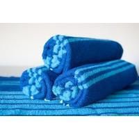 Полотенце махровое АВ сине-голубое в полоску 30
