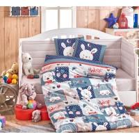 Детское постельное белье в кроватку HOBBY поплин Snoopy синее