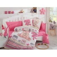 Детское постельное белье в кроватку HOBBY поплин Tombik розовое