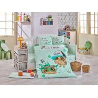 Детское постельное белье в кроватку HOBBY поплин Cool Baby мятное