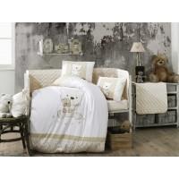 Детское постельное белье в кроватку HOBBY поплин Bonita бежевое