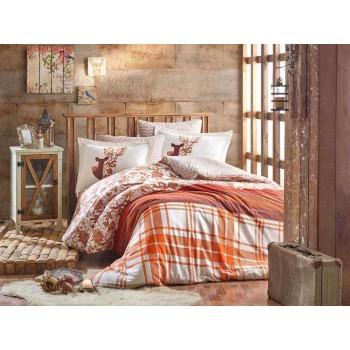 Постельное белье Hobby FLANNEL Valentina коричневое