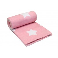 Одеяло-плед Vladi детское Звезды розовое