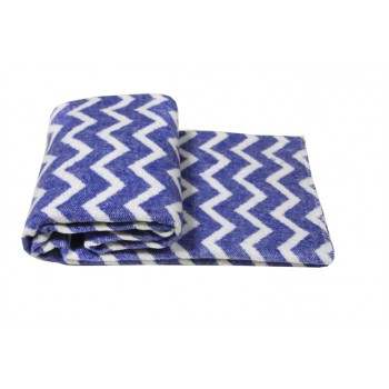 Одеяло-плед Vladi детское Зигзаг голубое