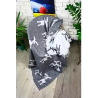 Плед LightHouse Funny Moose темно-серый
