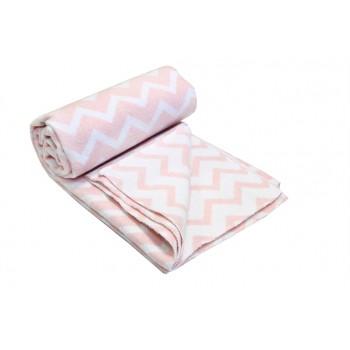 Одеяло-плед Vladi детское Зигзаг розовое