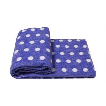 Одеяло-плед Vladi детское Горох голубое