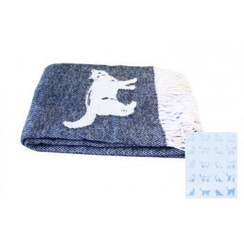 Плед LightHouse Cats синий