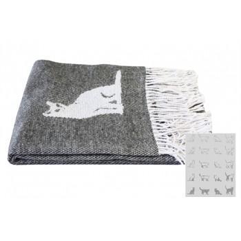Плед LightHouse Cats серый