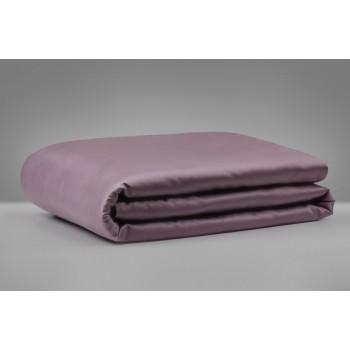 Простынь MirSon 0231 Excalibur сатин серо-фиолетовая