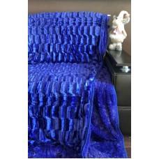 Плед покрывало меховое Норка-Травка двухсторонний Фиолет