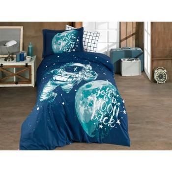 Постельное белье HOBBY поплин Galaxy синее