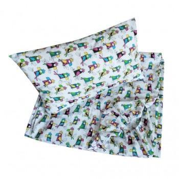Детское постельное белье в кроватку BabyStar бязь Попугай