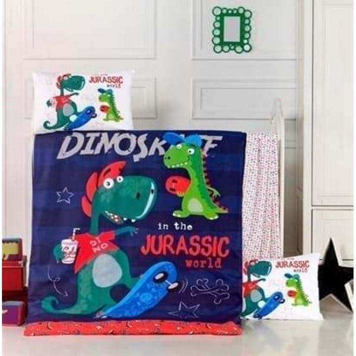Детское постельное белье в кроватку LightHouse ранфорс Dino