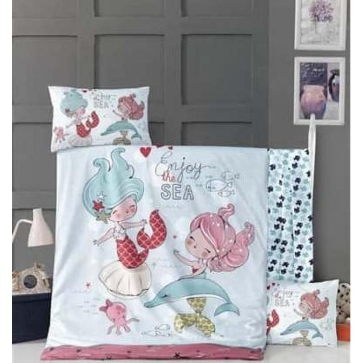 Детское постельное белье в кроватку LightHouse ранфорс Fish Girl