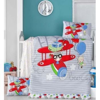 Детское постельное белье в кроватку LightHouse ранфорс Flying
