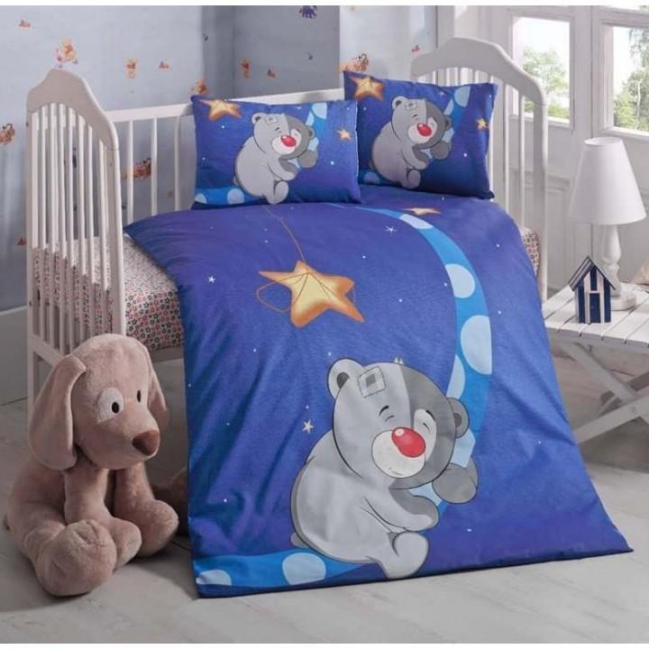 Детское постельное белье в кроватку LightHouse ранфорс Keyif