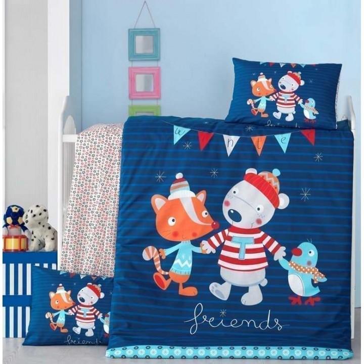 Детское постельное белье в кроватку LightHouse ранфорс Winter
